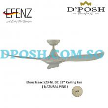 Efenz Isaac 523-NL DC 52'' Ceiling Fan ( NATURAL PINE )