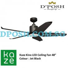 Kaze Kino DC 48'' LED Ceiling Fan ( Jet Black )