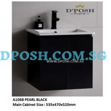 Baron-A106B-Stainless Steel Basin Cabinet  ( PEARL  BLACK )